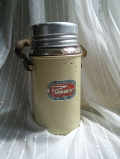 1950s Thermos Flask French Vintage Retro by FromParisToProvence, €49.00