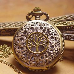 On SellVictorian Retro Eternal Tree Pocket Watch by AirTears, $4.99