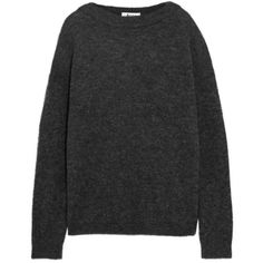 Acne Studios Oversized knitted sweater (465 CAD) ❤ liked on Polyvore featuring tops, sweaters, maglioni e felpe, grey, gray sweater, gray oversized sweater, over sized sweaters, oversized sweaters and grey top