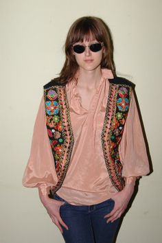 Vintage Floral Hippie Boho Artsy Vest One by iansvintagetreasury, $18.00