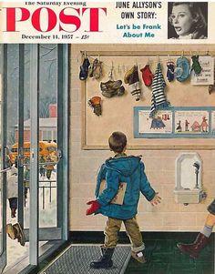 The Saturday Evening Post December 14 1957 Ben Prins Vintage Americana
