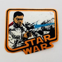 Star Wars Iron On Patch FINN Towel Apron, Fabric Patch, Treat Bags, Cloth Bags, Iron On Patches, Tea Towels, Hand Stitching, Happy Halloween, Printing On Fabric