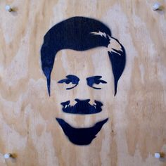 Oh Ron Swanson...that moustache, the hair...the killer eyebrows!