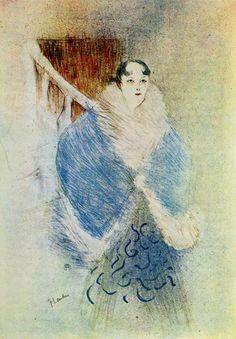 Elsa - La Viennoise, 1897 by Henri de Toulouse-Lautrec (French 1864-1901) ✏✏✏✏✏✏✏✏✏✏✏✏✏✏✏✏  ARTS ET PEINTURES - ARTS AND PAINTINGS  ☞ https://fr.pinterest.com/JeanfbJf/pin-peintres-painters-index/ ══════════════════════  Gᴀʙʏ﹣Fᴇ́ᴇʀɪᴇ ﹕☞ http://www.alittlemarket.com/boutique/gaby_feerie-132444.html ✏✏✏✏✏✏✏✏✏✏✏✏✏✏✏✏
