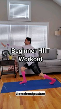 Hiit Workouts For Beginners, Easy Workouts, Hitt Workout, Fitness Workout For Women, Senior Fitness, At Home Workout Plan, Flexibility Workout, Wellness Fitness, Home Office