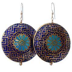 Layla Earrings in Morrocan Blue