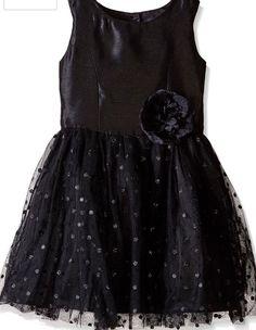 Zunie Girls Dress 10 Black NWT Holiday 100% Polyester Tank Dress Mesh Dot  #Zunie #BridesmaidChristmasDressyHolidayPageantPartyPromWedding