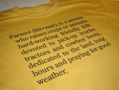 Farmer t shirt country living size Large or choice by geekthings, $14.99
