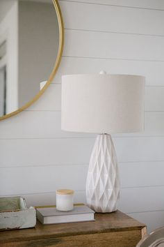 Photography by Mathers PhotographyJust off the gorgeous beaches of Saint Augustine, Florida, Jody and Jessica Davis designed and built this custom coastal modern farmhouse. With a spacious backyard… Modern Farmhouse Lighting, Coastal Farmhouse, Entryway, Table Lamp, Design, Home Decor, Entrance, Lamp Table, Main Door