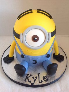 Minion Birthday Cake by LizzieQ Creations, via Flickr