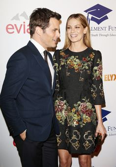 James Marsden had Michelle Monaghan's attention at the Fulfillment Fund Stars Benefit Gala at the Beverly Hilton in Beverly Hills, CA, on Tuesday.