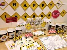 Build a construction themed #party for the birthday boy! More at mrpartyideas.com