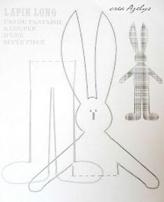 patron / doudou / couture / lapin