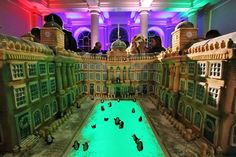 Somerset House Ice Rink - but look really carefully, it's a breathtaking handmade cake!! #London