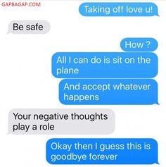 #FunnyTexts About Love vs.Goodbye