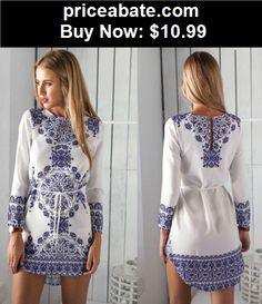 Sexy-Women-Dresses: New Summer Sexy Women Long Sleeve Evening Party Dress Cocktail Casual Mini Dress - BUY IT NOW ONLY $10.99