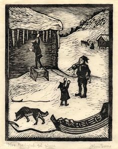 Category:Sami people in art Winter Illustration, Lappland, Wood Engraving, Samara, Block Prints, Art Prints, Woodblock Print, Art History, Printmaking