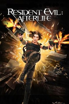 Resident Evil 4: Afterlife (2010). Milla Jovovich (Alice), Ali Larter (Claire), Boris Kodjoe (Luther). Alice and Claire land at a prison surrounded by zombies. They reach the safe haven, only to face a massive assault by Umbrella Corp. Zombies | Action | Sci-fi | Horror.