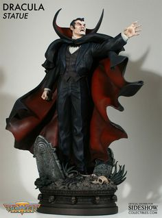 Bowen Designs The Tomb of Dracula Painted Statue. A Bowen Designs sculpt. Sculpted by Randy Bowen. Stands over tall to tips of collar. Marvel Comics, Horror Comics, Marvel Fan, Horror Art, Dracula, Statues, Ghost Rider Marvel, New Kids Toys, Midtown Comics