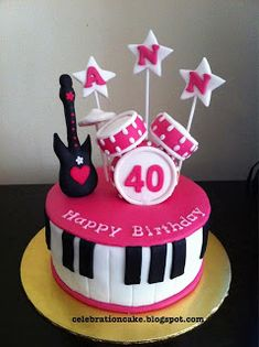 Celebration Cake: Musical Instruments Theme
