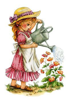 Little World - Mama Mia - Picasa Web Albums Art Drawings For Kids, Cute Drawings, Vintage Girls, Vintage Children, Cute Images, Cute Pictures, Decoupage Vintage, Holly Hobbie, Tatty Teddy