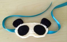 """""""Pandas are all the craze these days. I've been seeing them everywhere from piggy banks and stuffed animals to T-shirts and public art displays. I can see the allure with their adorable faces and unique coloring. When a friend posted this sleep mask found on Ebay I was inspired to make my own. It ended …Read more..."""