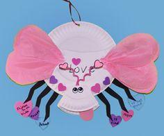 Valentine crafts for kids Valentines Day Activities, Valentines Day Party, Valentines For Kids, Valentine Day Crafts, Holiday Crafts, Bug Crafts, Daycare Crafts, Classroom Crafts, Preschool Crafts
