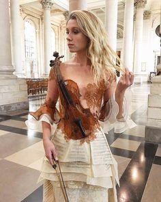 violin dress by French designer Sylvie Facon - Album on Imgur
