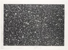 "Star Field III  Vija Celmins (American, born Latvia 1938)    1982-1983. Graphite on acrylic ground on paper, 21 x 27"" (53.3 x 68.6 cm). Gift of Edward R. Broida. © 2012 Vija Celmins"