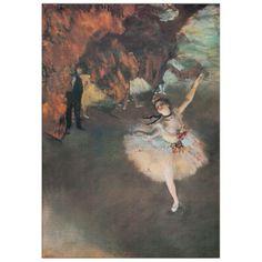 Degas - The star 46x66 cm #artprints #interior #design #Degas  Scopri Descrizione e Prezzo http://www.artopweb.com/autori/edgar-degas/EC21642