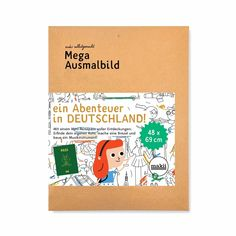 Mega Ausmalbild 'EIN ABENTEUER IN DEUTSCHLAND!' - HeimatKinder Shop Mondrian, Gifts Under 10, School Decorations, Oui Oui, France Travel, Colorful Pictures, Check It Out, Small Gifts, Back To School