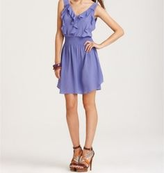 See Rebecca Taylor Spring Fling Dress on Pradux. Lavender Sleeveless Ruffle Front Spring Fling Dress