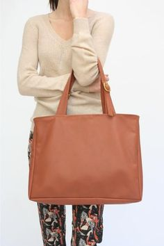 Lina Rennell Leather Tote Bag