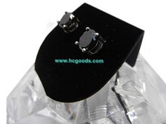 Magnetic Earrings - Black Titanium Steel Round Magnetic Earring