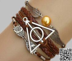 Harry Potter BraceletDeathly Hallows Bracelet owl by Carlydiy, $5.99