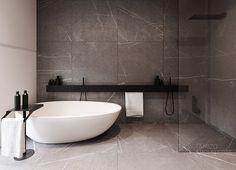 r-house (interior design), @ Pabianice by Tamizo Architects Bad Inspiration, Bathroom Design Inspiration, Modern Bathroom Design, Bathroom Interior Design, Minimal Bathroom, Design Ideas, Bathroom Designs, Modern Design, Modern Interior