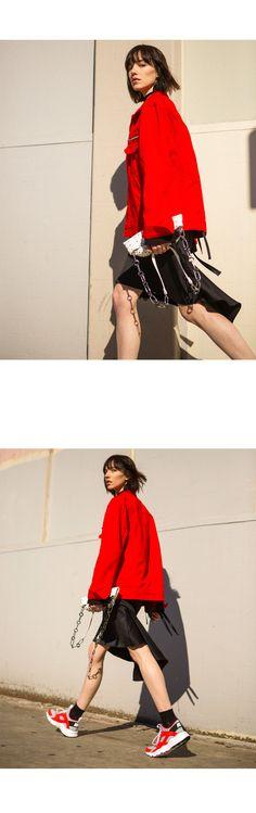 en.anderssonbell.com Product Detail view pid 1034 cid 66 spn UNISEX-LINUS-TRUCKER-JACKET-awa082u-Red