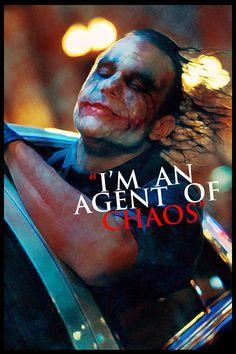 The Joker Agent of Chaos Heath Ledger Dark Knight, Joker Dark Knight, Heath Ledger Joker, Joker Comic, Joker Pics, Joker Art, Joker Pictures, Dark Knight Quotes, The Dark Knight Trilogy