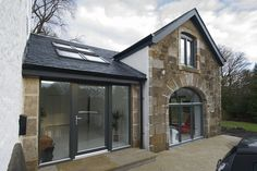 Linear 7 have just completed this unique barn conversion in Kilbarchan, Renfrewshire.   The barn was derelict and needing a significant amount of work, however the re-pointing of the stone and repairing the roof along with all of the interior alterations really made this space special.  The barn is linked to the existing house via a sympathetic modern extension, constructed with stone removed from the projects construction. #barnconversion #glasgowarchitecture #residentialarchitecture