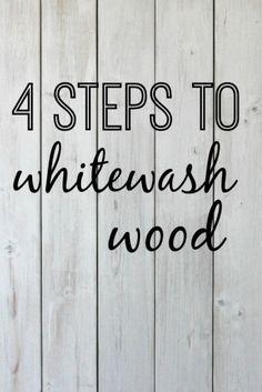 4 steps to whitewash wood | DIY tutorial for whitewashing a wooden pallet.