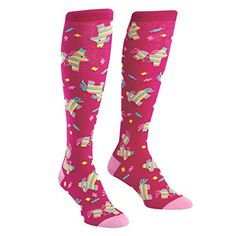 746ee2bfc Sock It To Me Women s Knee High Funky Socks with Pinatas!