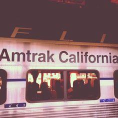 The Amtrak Pacific Surfliner travels between LA and San Diego, California.