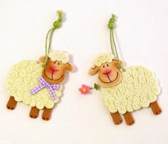 felt lambs - no tutorial but would be easy to make
