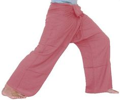 """Pink Indianred Fisherman Pants Yoga Clothes Thai Summer Beach Pants Yoga Wear Cotton Thai Comfortable Pants Clothing Thai Yoga by Cotton Design. $24.99. Perfect for Yoga, Martial Arts, Maternity, Dance, the beach and more! Thai. Brand new top quality authentic. These cool new Fisherman Pants measure about 50"""" around the waist and total length is about 41"""". One size fits most!. These high quality fisherman pants are hand made in Thailand of strong and durable silky ..."""