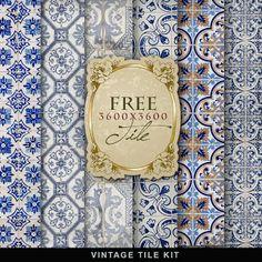 Azulejo Far Far Hill: Free Background