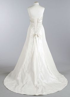 Back of David's bridal dress