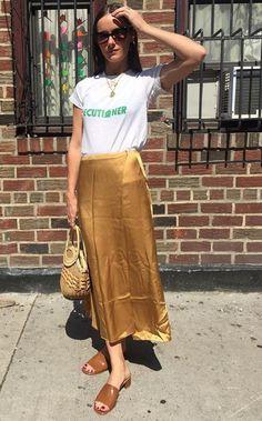 tee shirt, maxi skirt, mnz