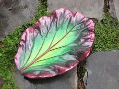 Decorative Concrete Bergenia Leaf Casting