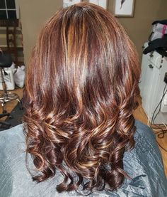 Caramel+Highlights+For+Mahogany+Hair