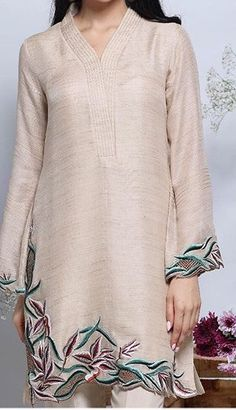44 Best Ideas for embroidery blouse designs cutwork New Embroidery Designs, Embroidery Suits Design, Embroidery Dress, Kurta Designs Women, Blouse Designs, Pakistani Outfits, Indian Outfits, Style Marocain, Kurta Neck Design